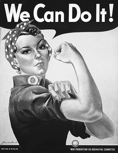 We Can Do It BW 400x518