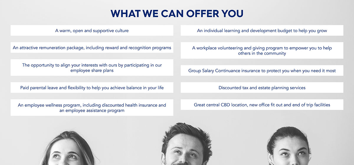 Careers page what we can offer you
